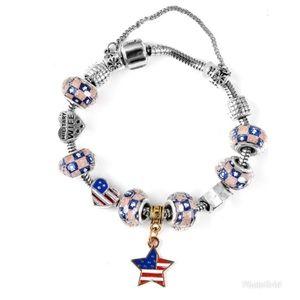 Chroma, Enameled Military Wife Charm Bracelet